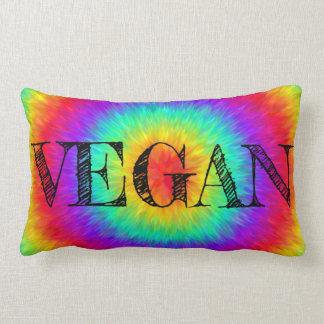 Vegan Logo Rainbow Lumbar Cushion