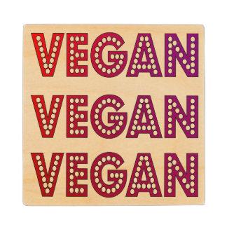 Vegan Logo Wood Coaster