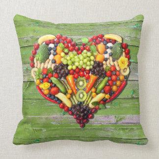 VEGAN LOVE -  your Heart Green Wood Wall Cushion