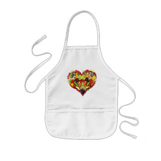 VEGAN LOVE -  your Heart Kids Apron