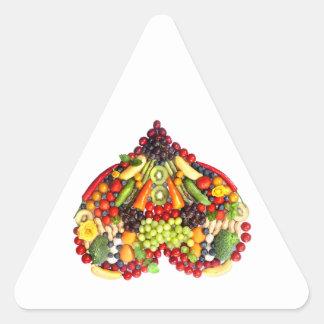 VEGAN LOVE -  your Heart Triangle Sticker