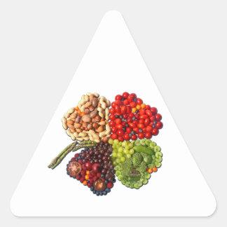 VEGAN Lucky Charm Clover Triangle Sticker