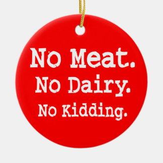 Vegan Message with Attitude Christmas Ornament