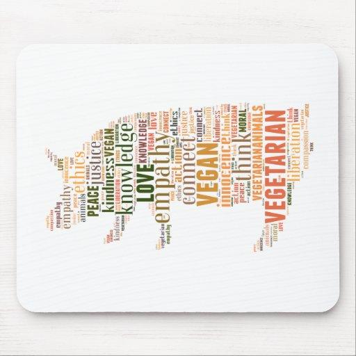 Vegan mosaic mousepads