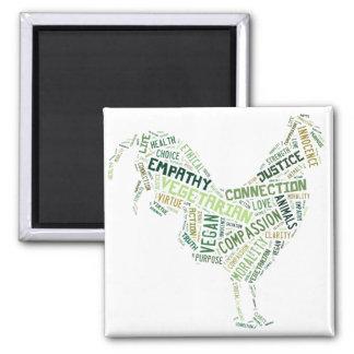 Vegan Mosaic Square Magnet