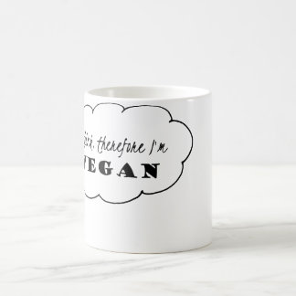 Vegan Mug, I think therefore I'm Vegan Mug