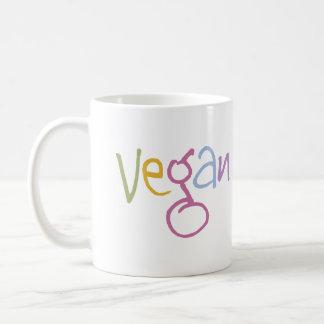 Vegan Multicolor Basic White Mug