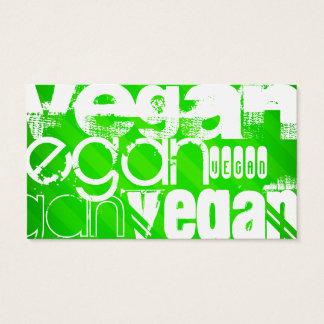 Vegan; Neon Green Stripes Business Card