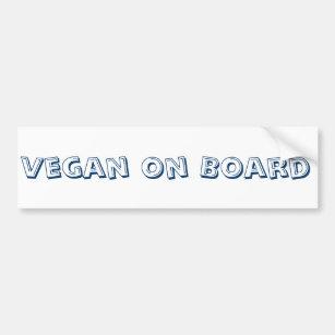 Vegan on Board Bumper Sticker