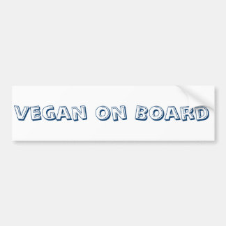 Vegan on Board Bumper Sticker