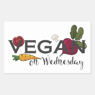 Vegan on Wednesday Rectangular Sticker