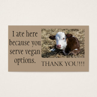Vegan Outreach Thank You Cards