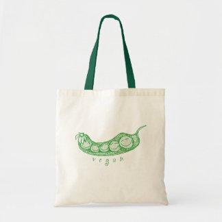 Vegan Pea Pod Tote Bags