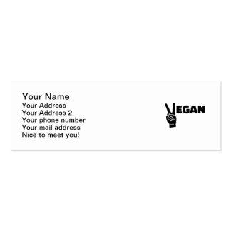 Vegan peace pack of skinny business cards