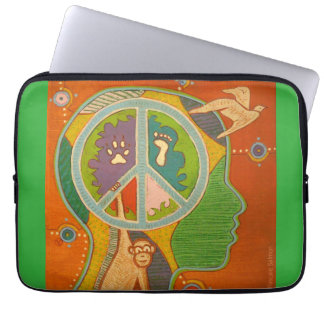 Vegan Peace computer cover Computer Sleeves