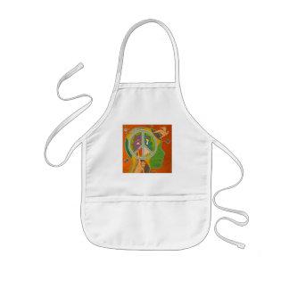 Vegan peace kids apron