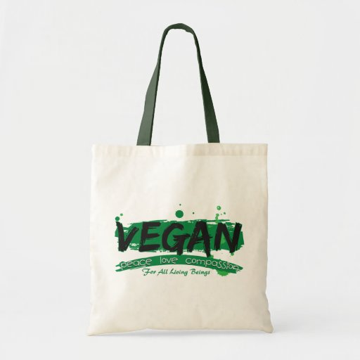 Vegan Peace Love Compassion Bags