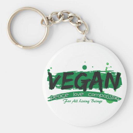 Vegan Peace Love Compassion Keychains