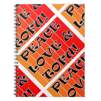 Vegan Peace Love & Tofu Notebook