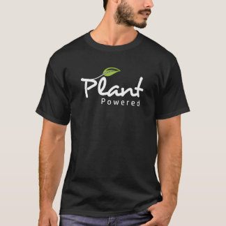 "Vegan ""Plant Powered"" black t-shirt"