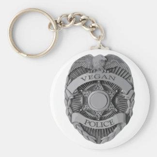 Vegan Police Basic Round Button Key Ring