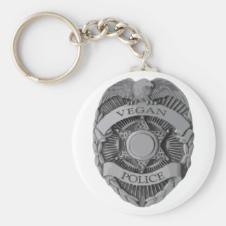 Vegan Police Key Ring