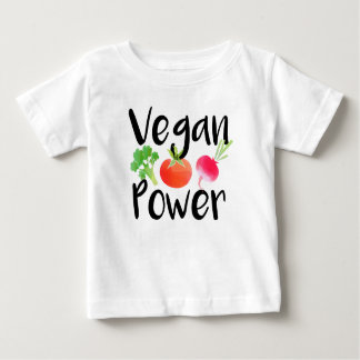 """Vegan Power"" baby shirt"
