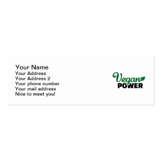 Vegan power pack of skinny business cards