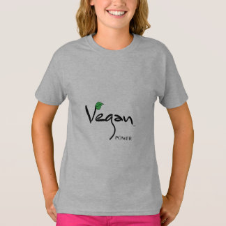 Vegan Power with Green Leaf Cool T-Shirt