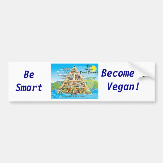 vegan-pyramid-800x600, Be Smart, Become a Vegan! Bumper Sticker
