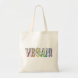 Vegan Rainbow Logo Tote Bag