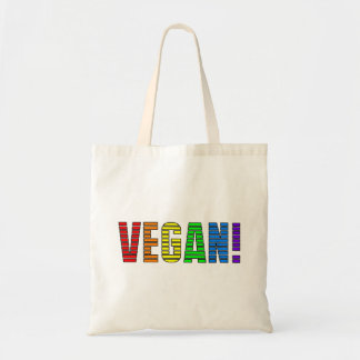 Vegan Rainbow Stripe Tote Bag