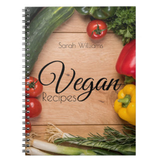 Vegan Recipes notebook with name template