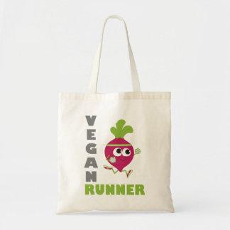 Vegan Runner - Beet Budget Tote Bag