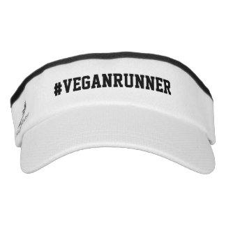 Vegan Runner hashtag Visor