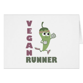 Vegan Runner - Running Pepper Cards