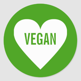 Vegan Safe Culinary Label Round Sticker