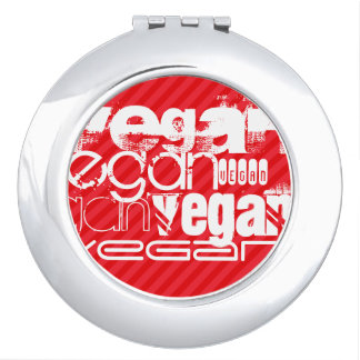 Vegan; Scarlet Red Stripes Makeup Mirror