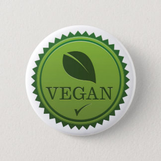 Vegan Seal 6 Cm Round Badge