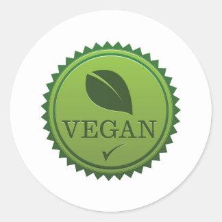 Vegan Seal Round Sticker