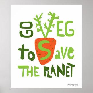 Vegan Slogan Hand Written Doodle Poster