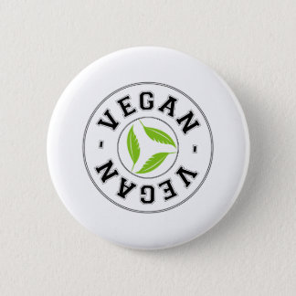 Vegan Sports Logo 6 Cm Round Badge