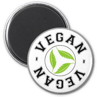 Vegan Sports Logo 6 Cm Round Magnet