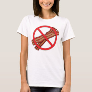 Vegan Stop the Madness No Bacon Zone T-Shirt