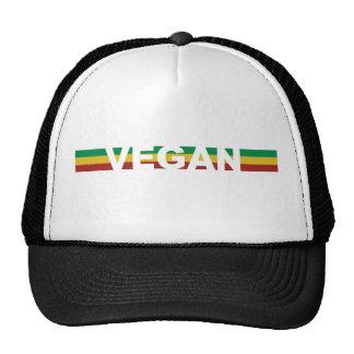 Vegan Stripes Rasta Trucker Hat