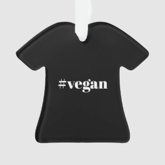 Vegan T-Shirt Christmas Ornament