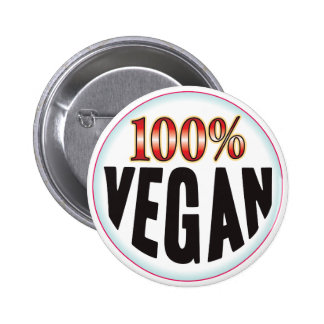 Vegan Tag 6 Cm Round Badge