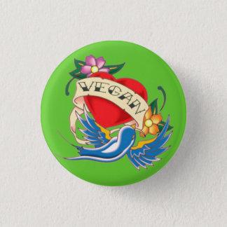 Vegan Tattoo 3 Cm Round Badge