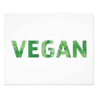Vegan Text Art - Happy Quote 11.5 Cm X 14 Cm Flyer