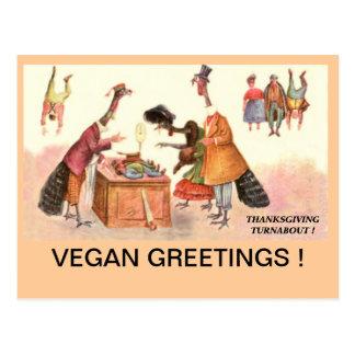 VEGAN THANKSGIVING Postcard